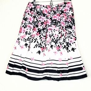 Charter club A-Line floral skirt